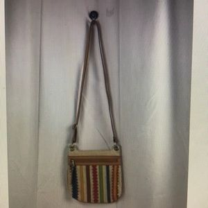 RELIC CROSSBOYD BAG RAINBOW FAUX LEATHER ACCENTS